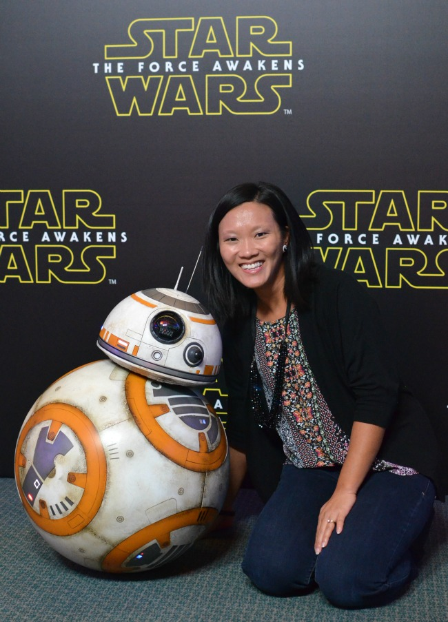 BB-8 photo opp Star wars press conference