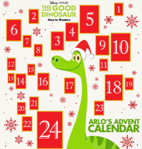 The Good Dinosaur FREE Advent Calendar + Printable Activities #TheGoodDino