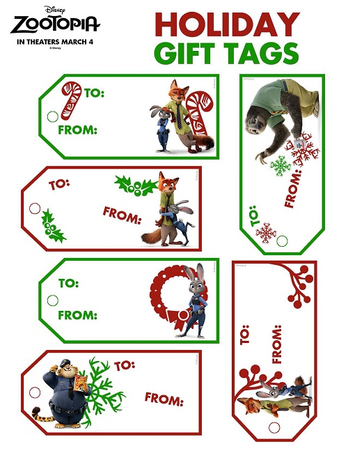 Free Zootopia printable kids activities for the holidays