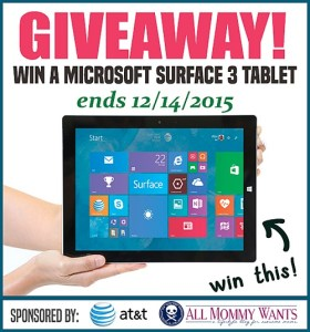 Microsoft Surface 3 Tablet Giveaway