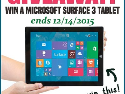 Microsoft surface tablet giveaway