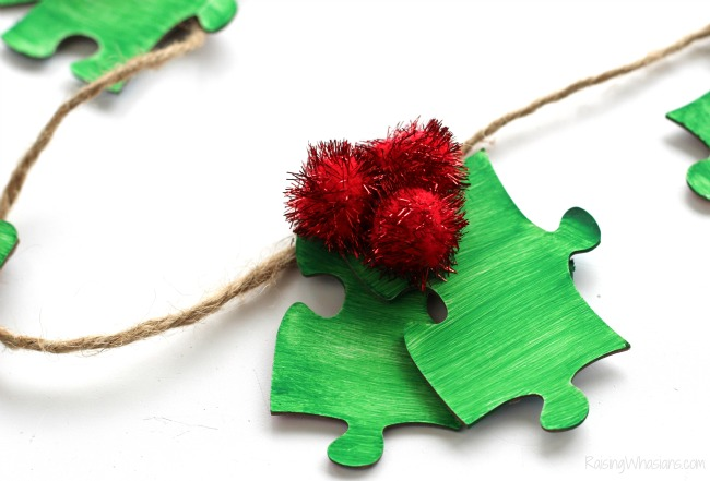 Puzzle piece Christmas craft