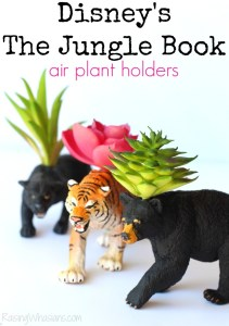 DIY Disney The Jungle Book Air Plant Holders #JungleBook