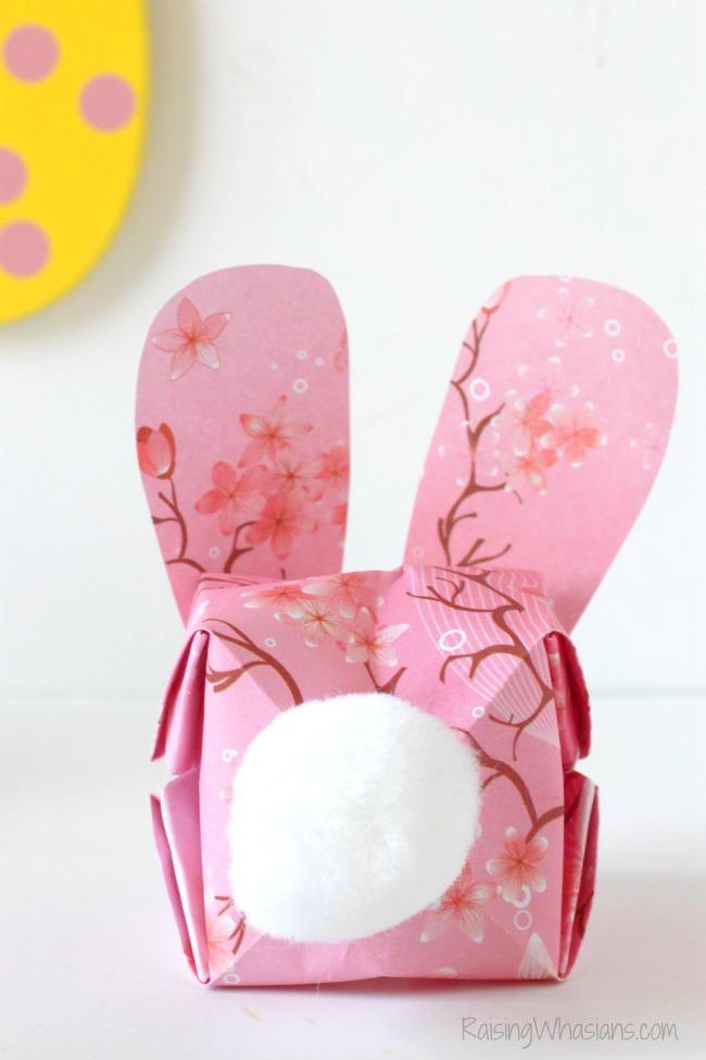 Easter bunny butt craft