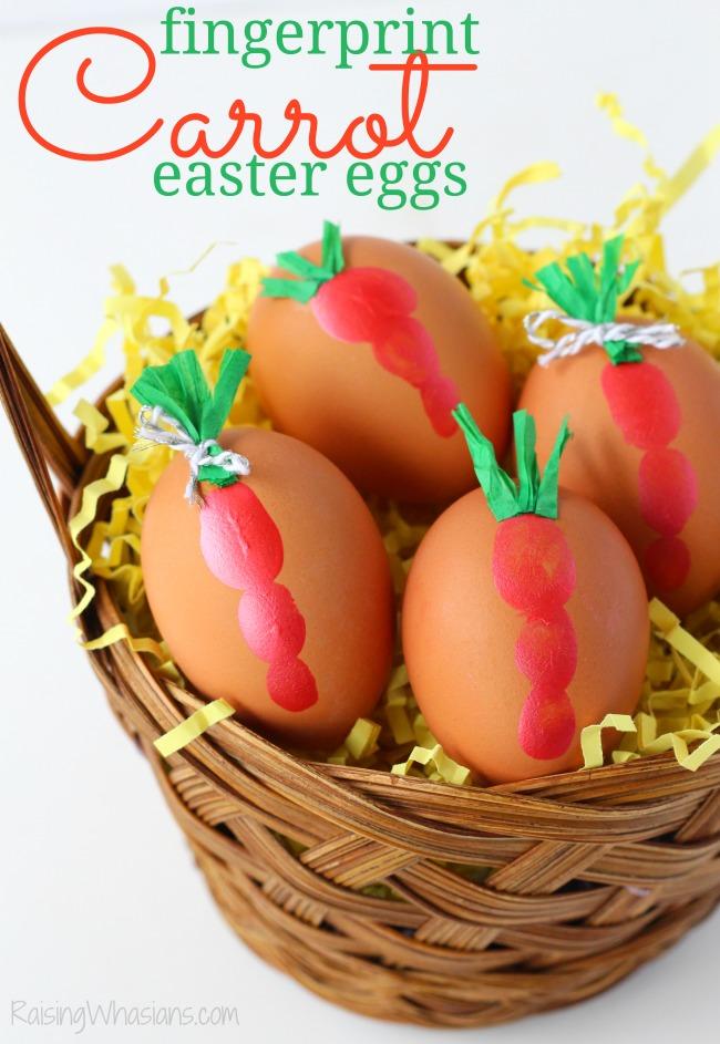 Fingerprint carrot Easter eggs
