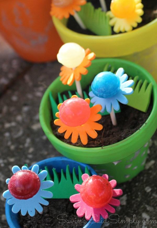 Lollipop garden craft for kids