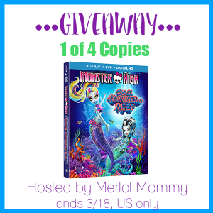 Monster High Great Scarier Reef Blu-Ray Combo Pack Giveaway – 4 Winners!
