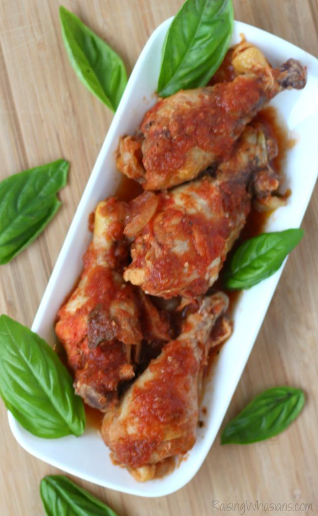 Easy slow cooker chicken drumsticks Italian