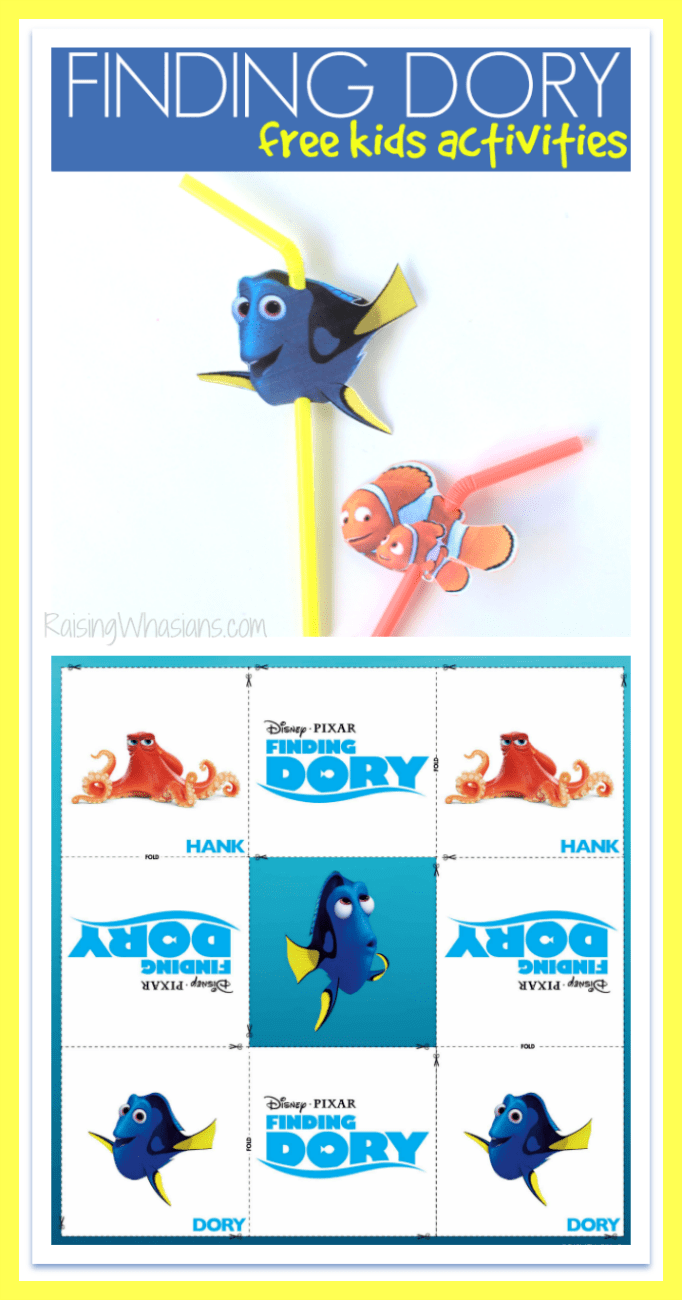 Free finding Dory straw topper printable