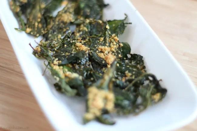 Kale chips parmesan