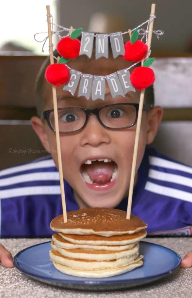 Pancake topper for kids