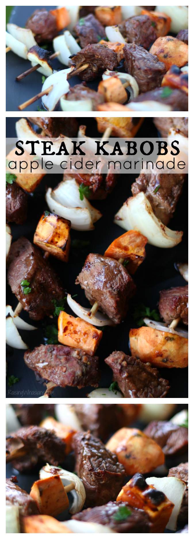 Fall steak kabobs pinterest Fall Steak Kabobs with Apple Cider Marinade   Delicious fall grilling recipe featuring steak, sweet potatoes & easy apple cider marinade #ProteinChallenge #Recipe #grilling