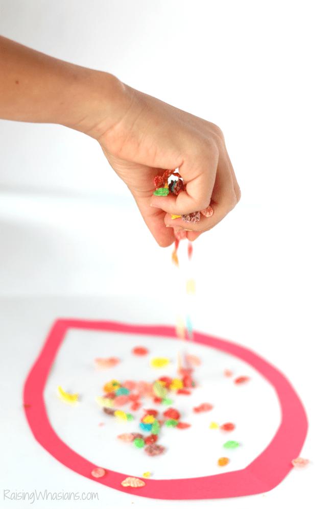 Fruity pebbles fall craft