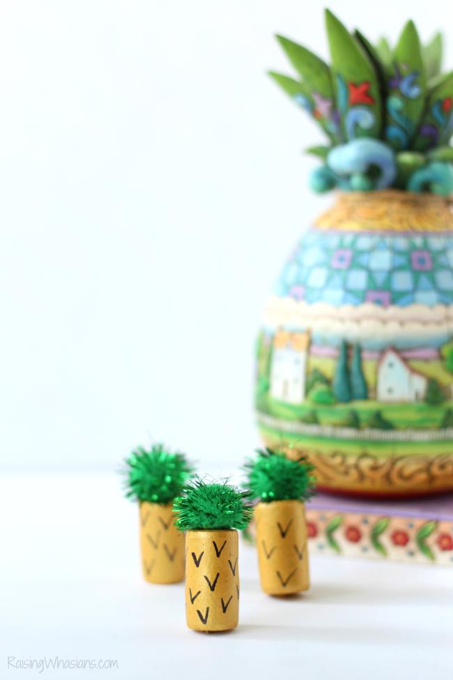 Wine cork pineapple craft