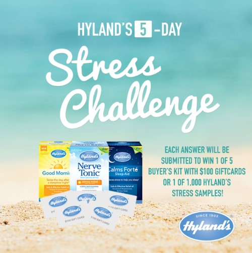 Hyland's stress challenge logo