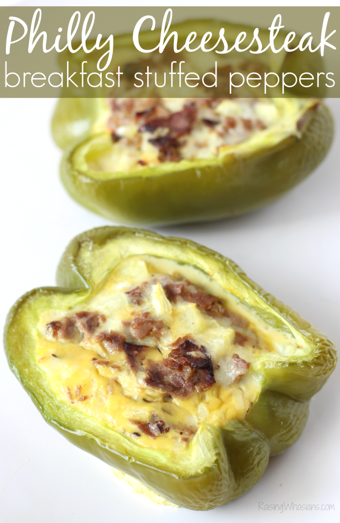 Breakfast Philly Cheesesteak Stuffed Peppers | Low carb, high protein breakfast with Philly Cheesesteak & Stuffed Peppers together in this tasty recipe #Breakfast #Recipe #BreakfastRecipe