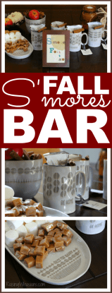 Fall s'mores bar with Hallmark home