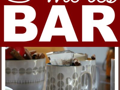 Fall s'mores bar with Hallmark home