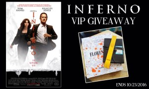 Inferno Movie Prize Pack Giveaway – Ends 10/23