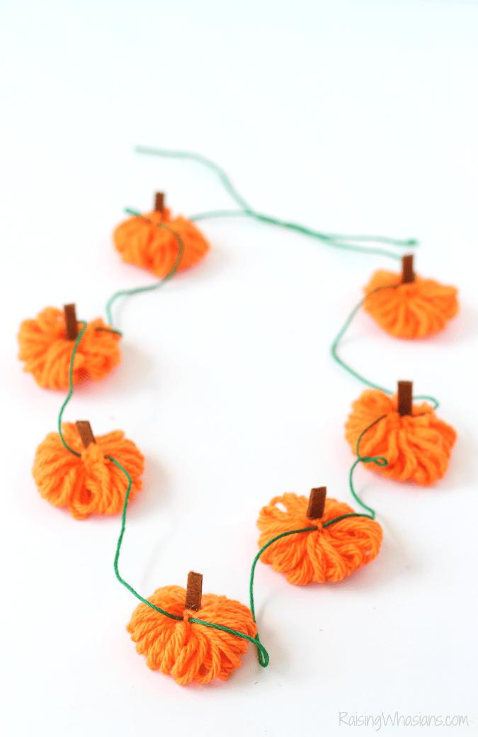 Pumpkin necklace kids craft