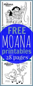 Free printable Moana coloring pages pinterest