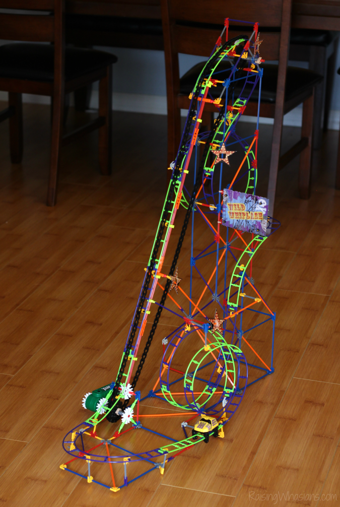 K'NEX wild whiplash roller coaster review