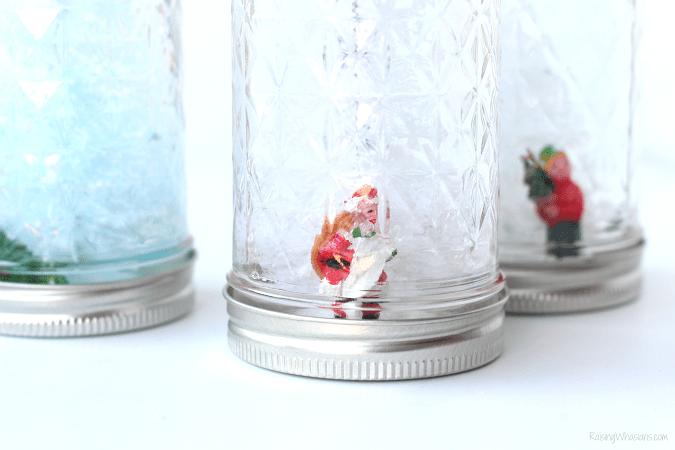 Mason jar snow globe craft