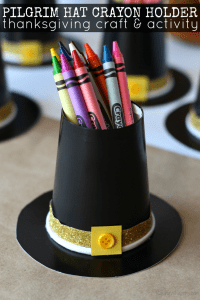 Pilgrim Hat Crayon Holder Craft with Family Dollar