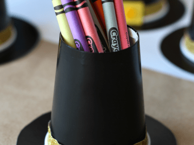 Pilgrim hat crayon holder craft