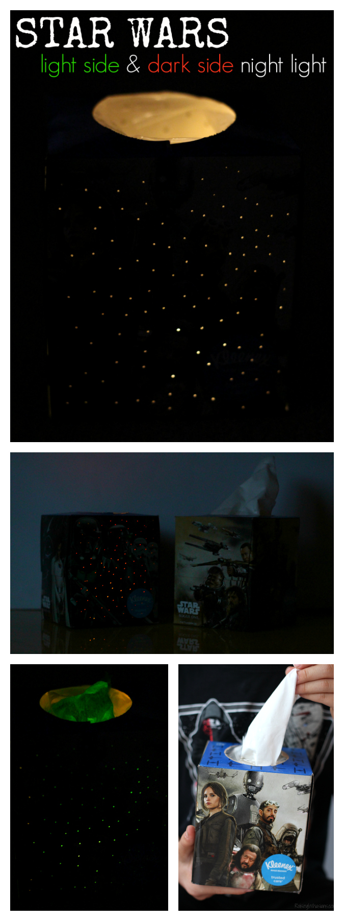 Star wars craft night light pinterest