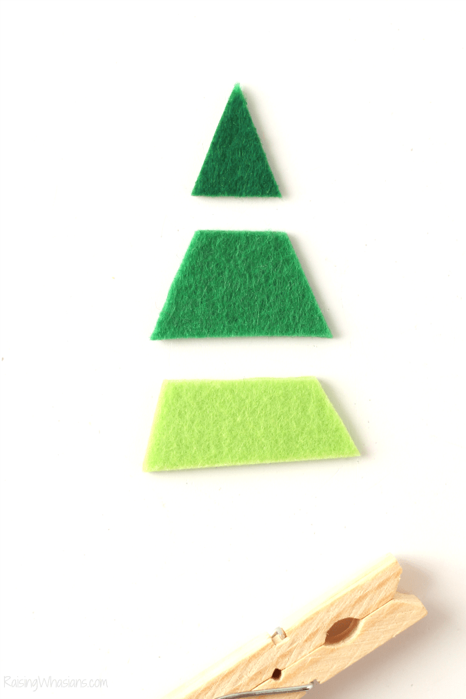 Felt Christmas tree craft