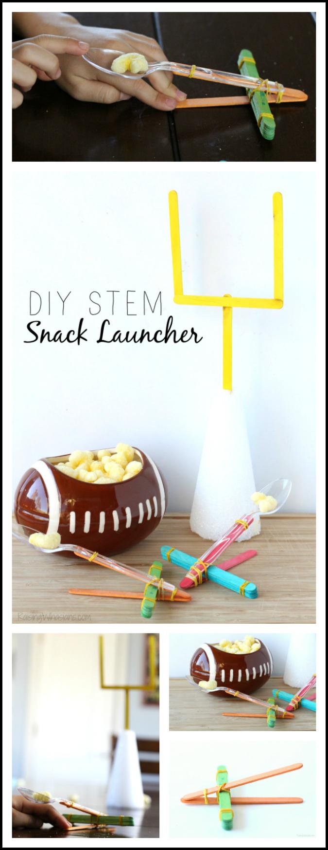 DIY STEM snack launcher pinterest