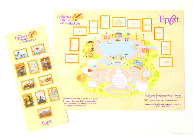 Figment's brush with the masters scavenger hunt Epcot