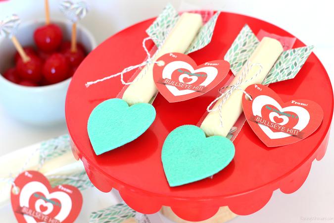 String cheese valentine arrows