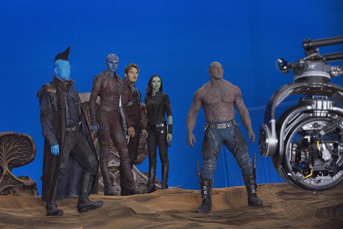 Guardians 2 on set exclusive interviews