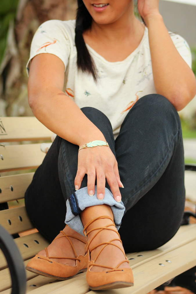 Spring style for moms high rise jeans