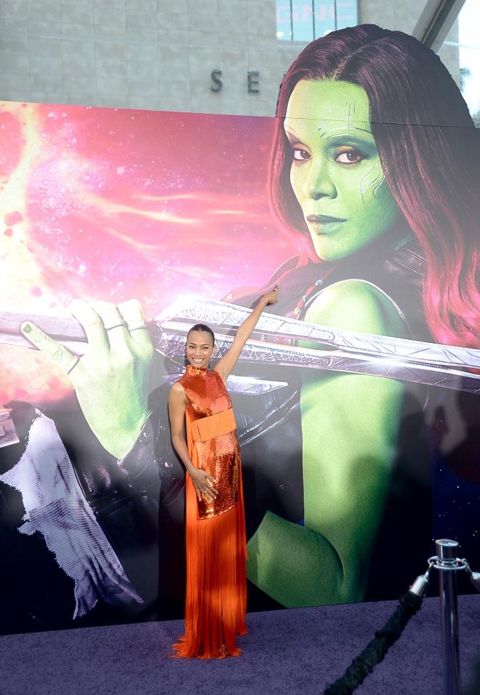 Zoe Saldana Guardians 2 premiere
