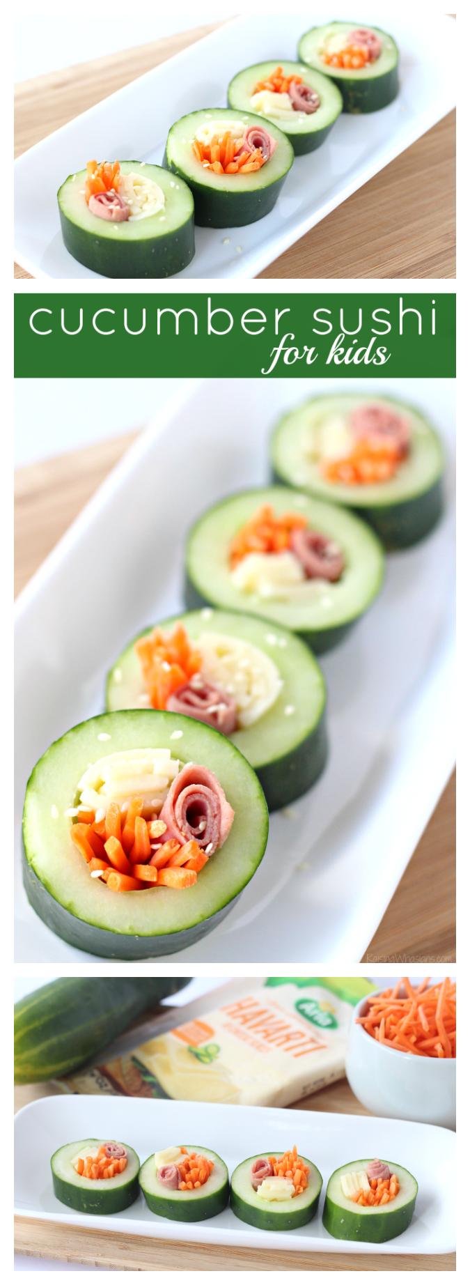 Cucumber sushi for kids pinterest