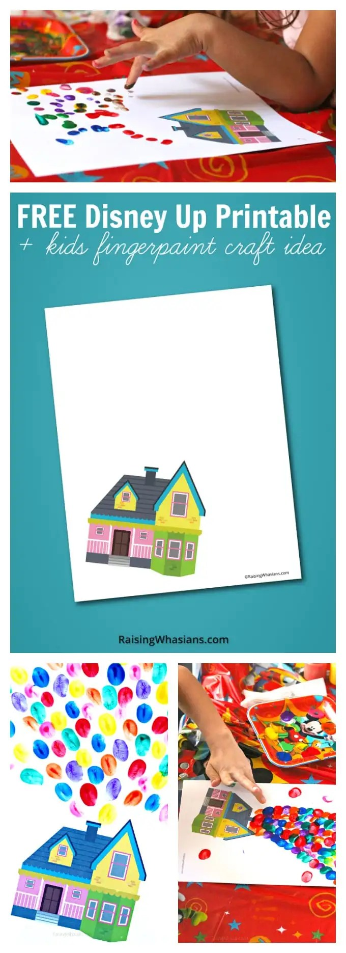 Free Disney up printable kids craft pinterest