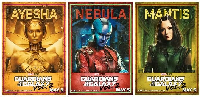 Guardians 2 interview Nebula Mantis Ayesha
