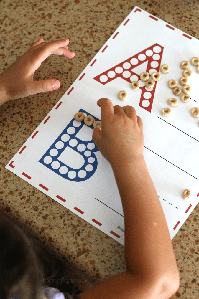 Printable abc worksheet for preschoolers Help your child master Pre-K with these FREE Printable ABC Worksheets for Preschoolers. Learning the ABCs is much more fun with Do a Dot Cheerios - Hands-on learning for preschoolers with this kids activity - Don't miss this learning activity for preschoolers to learn their letters. Amazing early reading skill development - #KidsActivities #FreePrintable #homeschool #Preschool #EarlyLearning