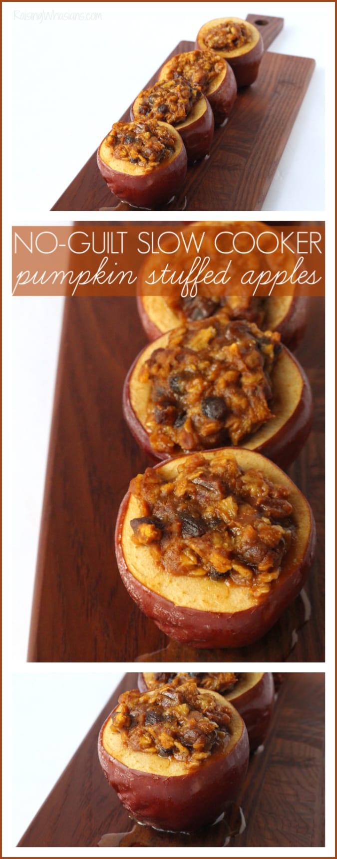 Healthy slow cooker pumpkin stuffed apples