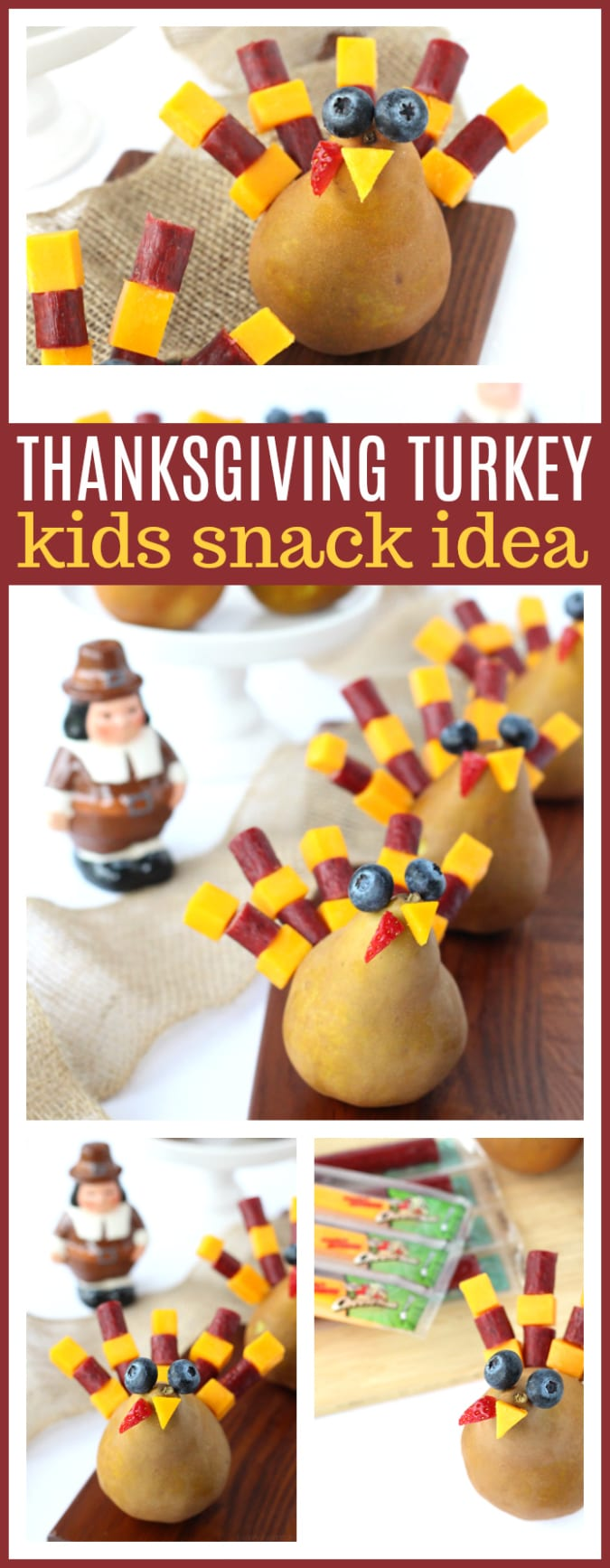 Festive Thanksgiving Snack Kids Will Gobble Up | easy & fun Thanksgiving turkey inspired kid snack idea featuring cheese sticks #Thanksgiving #Snack #party #Entertaining