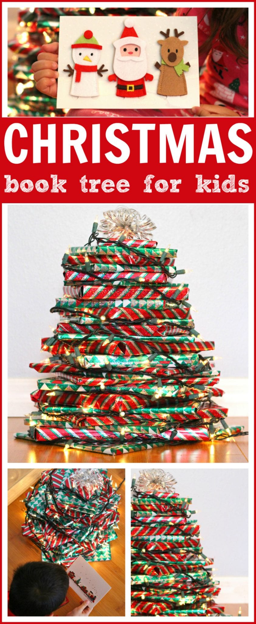 Christmas book tree advent pinterest