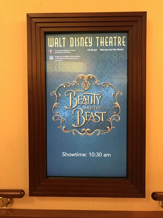 Disney cruise beauty and the beast show review for kids