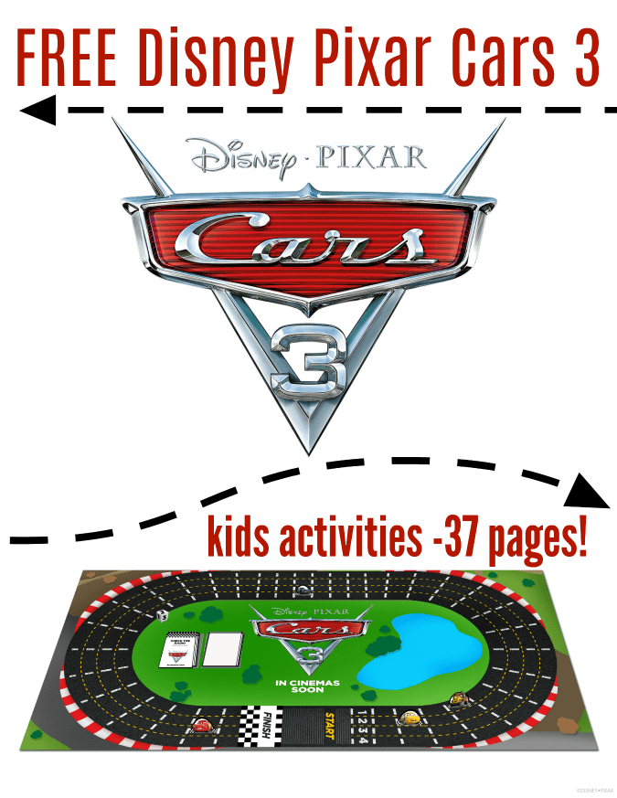 Free Disney cars printable coloring