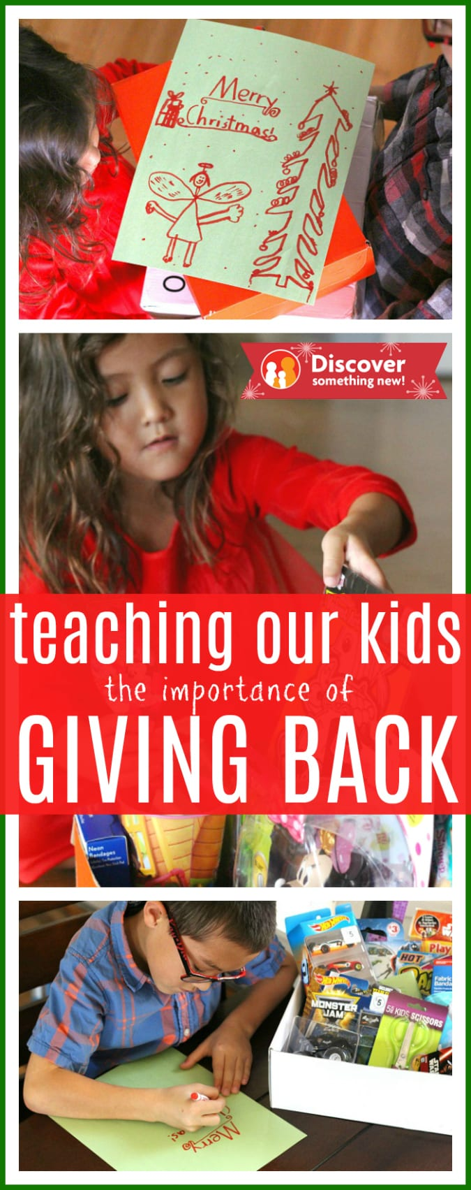 Teaching our kids to give back pinterest