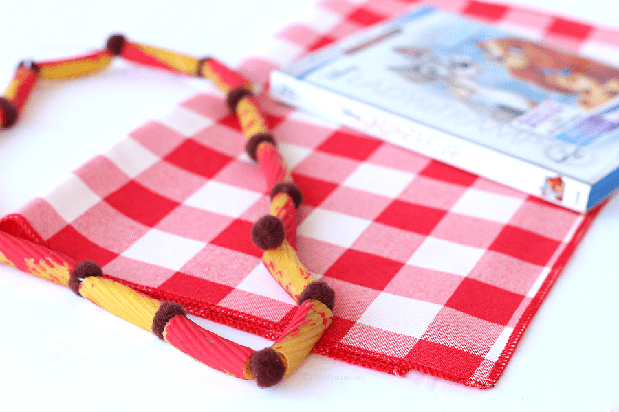 Lady and the tramp craft necklace