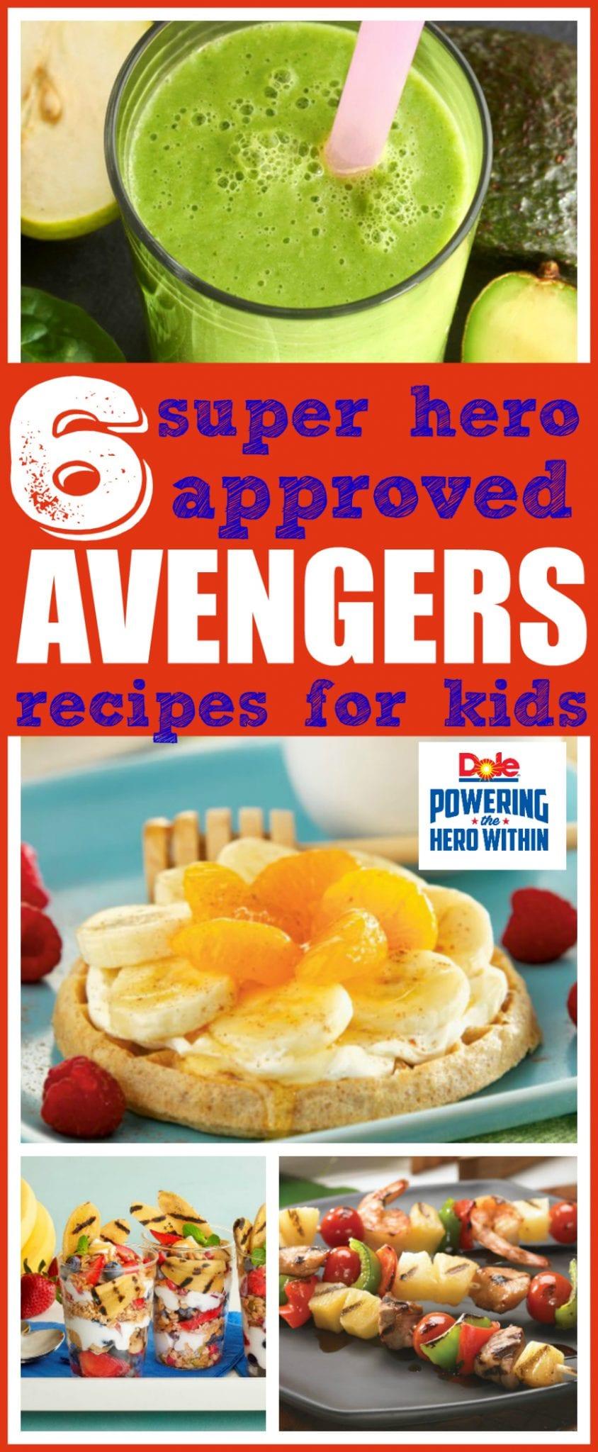 Avengers recipes for kids