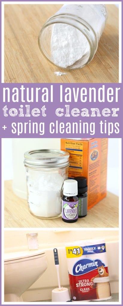 Lavender natural toilet cleaner